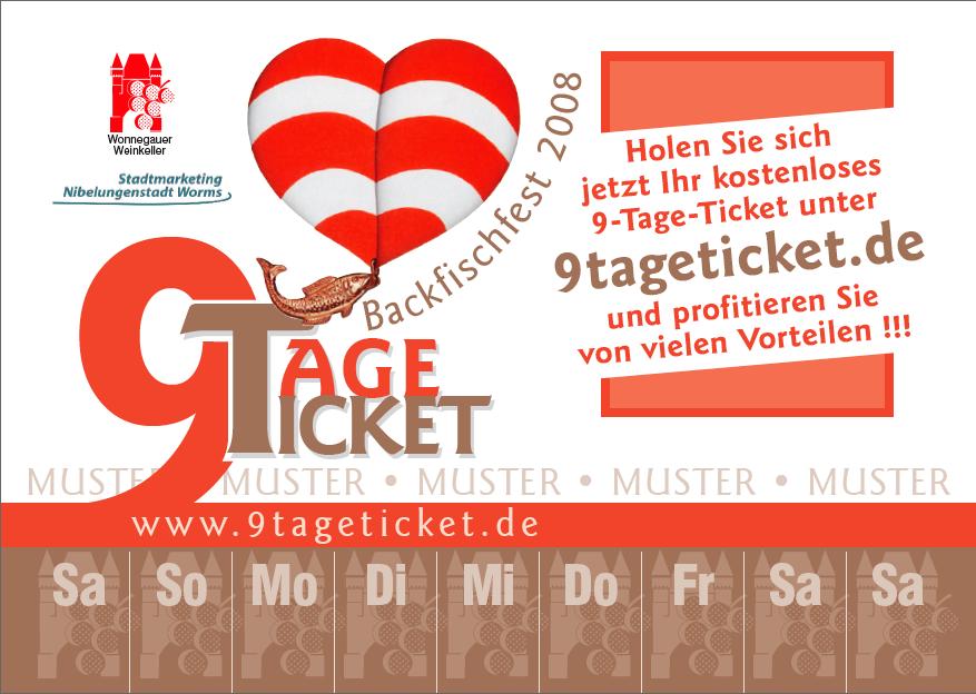9 Tage Ticket Muster Alexander Jaeger
