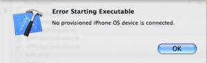 Screenshot 2: XCode compiling error