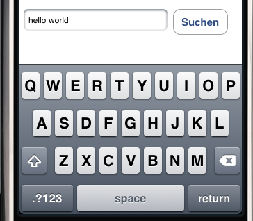 iPhone Tastatur