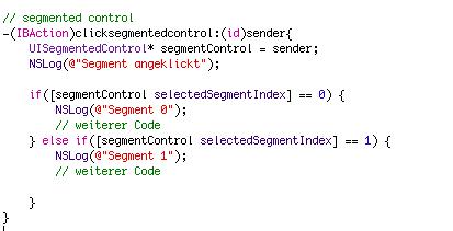 segment control iphone