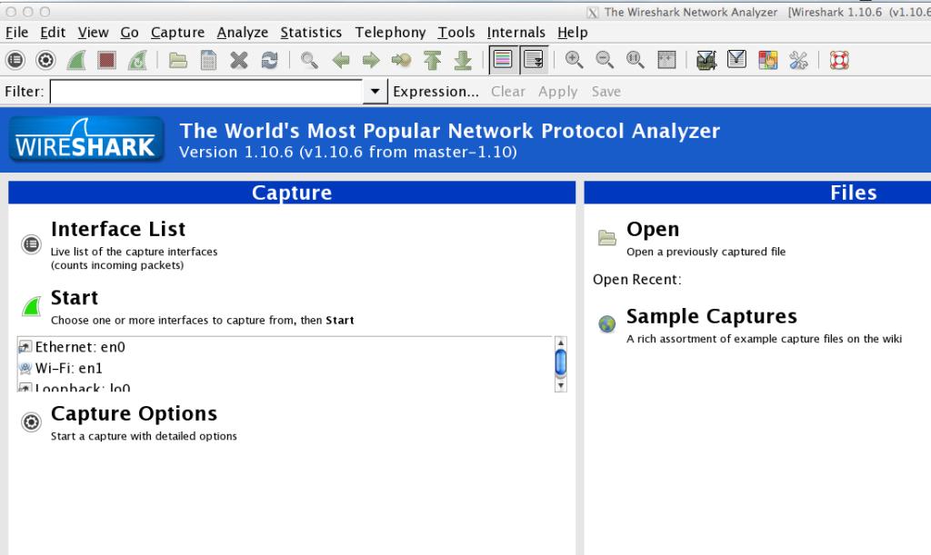 Wireshark OSX Maverick