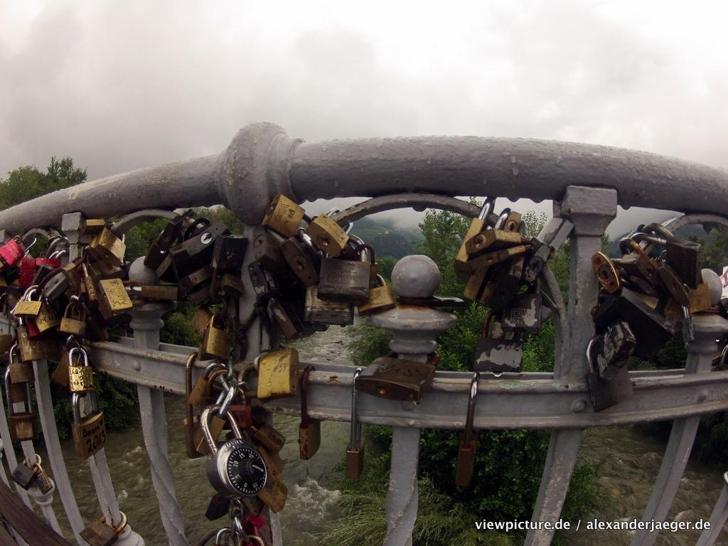 Balzano love locks on a bridge