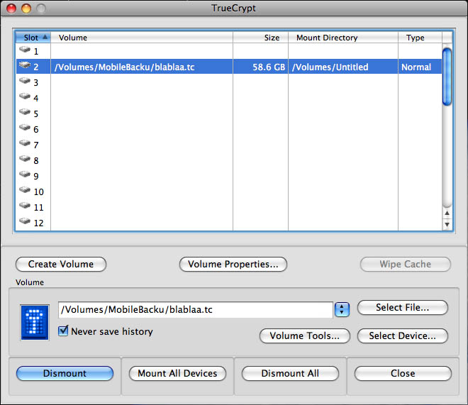 Osx Truecrypt User Interface