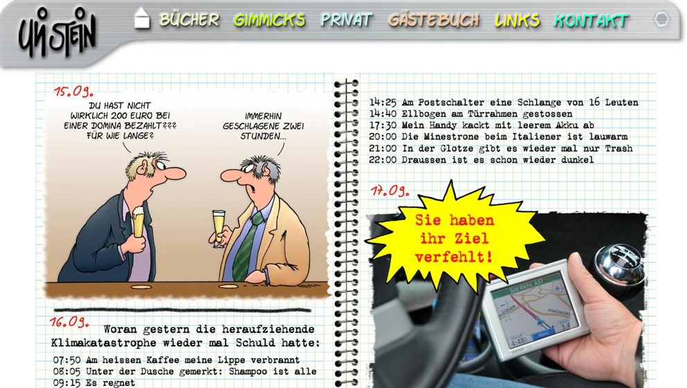 Notizbuch von Uli Stein dem Cartoonisten