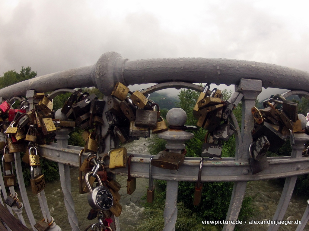 Balzano love locks on a bridge